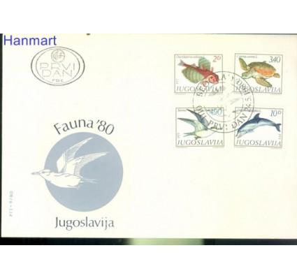 Jugosławia 1980 Mi 1834-1837 FDC