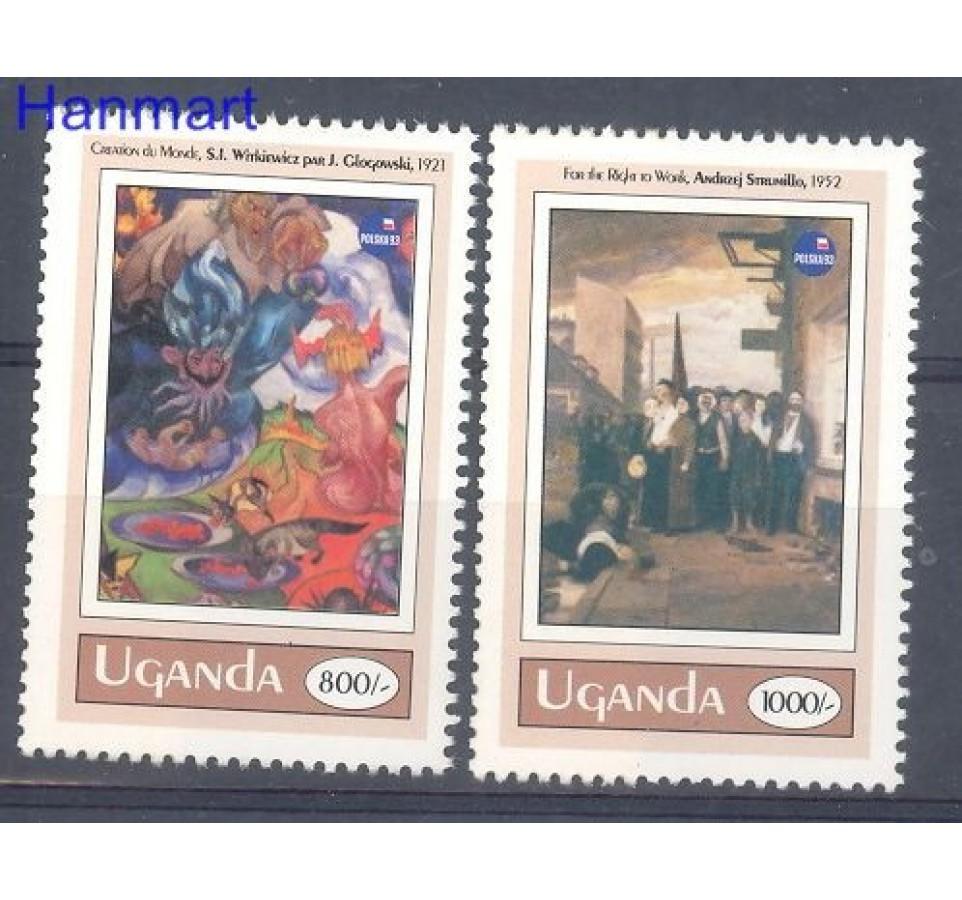 Uganda 1993 Mi 1288-1289 Czyste **