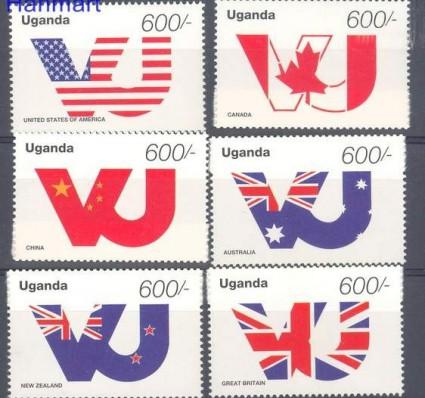 Znaczek Uganda 1995 Mi 1500-1505 Czyste **