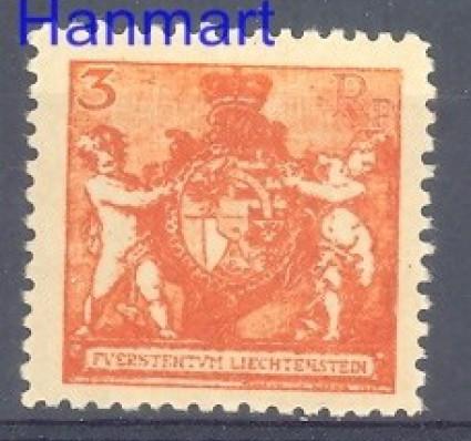 Liechtenstein 1921 Mi 47B Z podlepką *