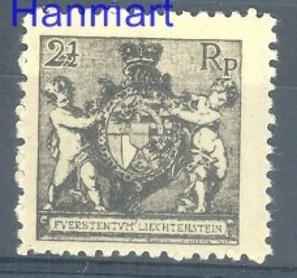 Liechtenstein 1921 Mi 46B Z podlepką *