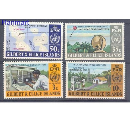 Znaczek Gilbert Ellice Islands 1973 Mi 213-216 Czyste **