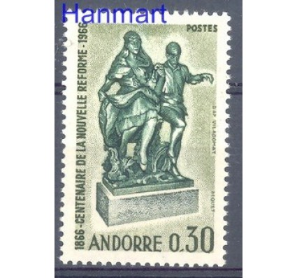 Znaczek Andora Francuska 1967 Mi 201 Czyste **