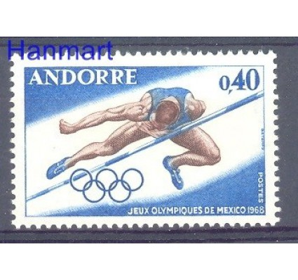 Znaczek Andora Francuska 1968 Mi 210 Czyste **