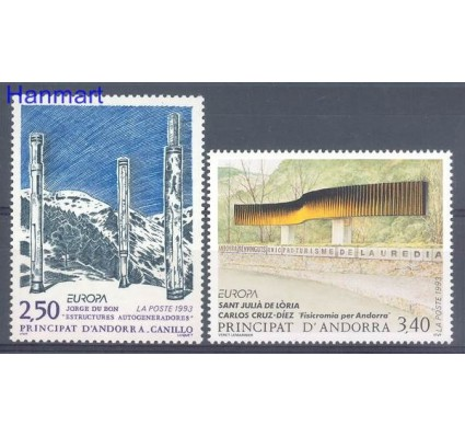 Andora Francuska 1993 Mi 451-452 Czyste **