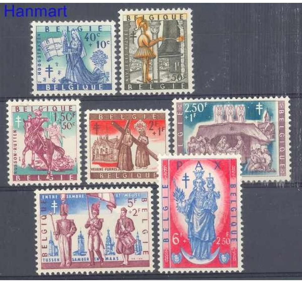 Belgia 1958 Mi 1135-1141 Czyste **