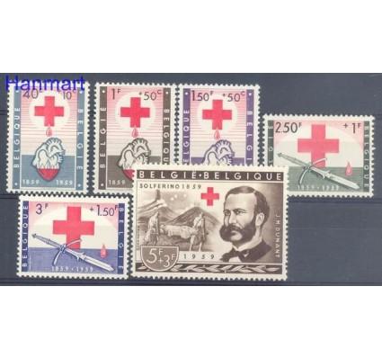 Znaczek Belgia 1959 Mi 1149-1154 Z podlepką *