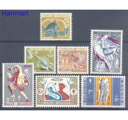 Znaczek Belgia 1959 Mi 1167-1173 Czyste **