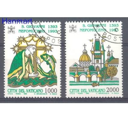 Znaczek Watykan 1993 Mi 1097-1098 Stemplowane