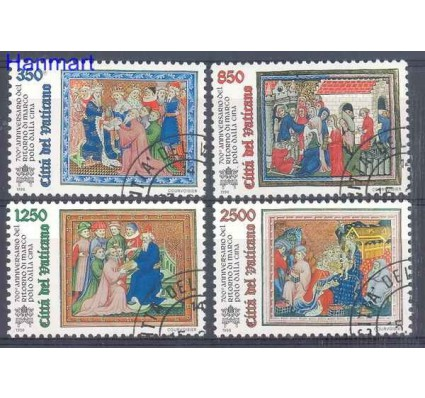 Watykan 1996 Mi 1167-1170 Stemplowane
