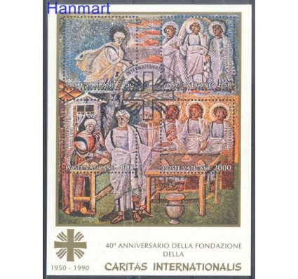 Znaczek Watykan 1990 Mi bl 12 Stemplowane