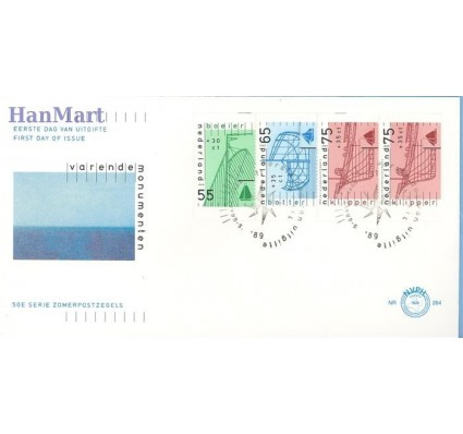 Holandia 1989 Mi 1361c-1363e FDC