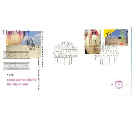 Holandia 1990 Mi 1375-1376 FDC