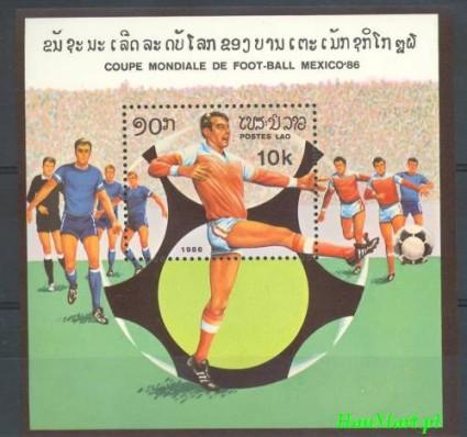 Znaczek Laos 1986 Mi bl 109 Czyste **