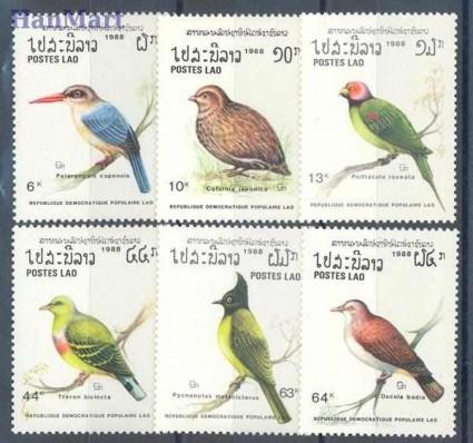Znaczek Laos 1988 Mi 1082-1087 Czyste **