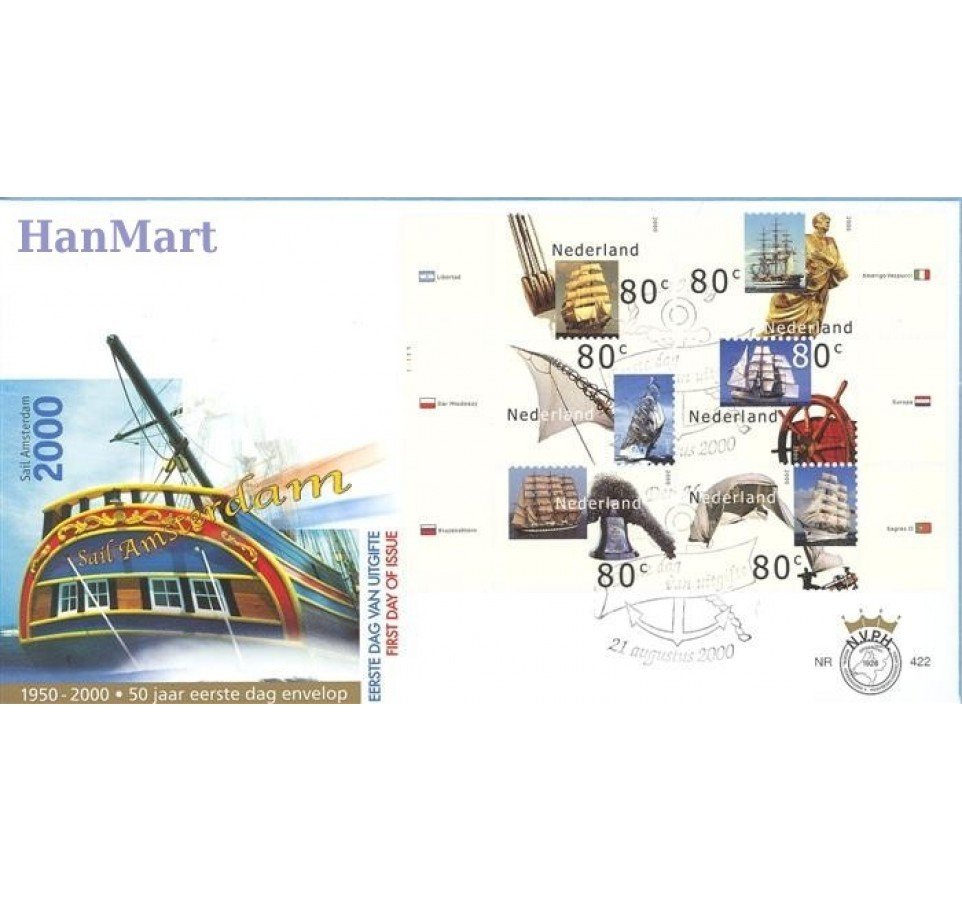 Holandia 2000 Mi 1807-1816 FDC