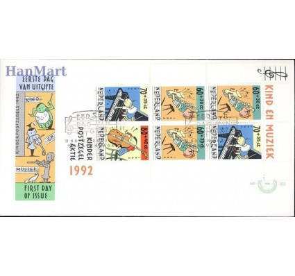 Holandia 1992 Mi bl 37 FDC