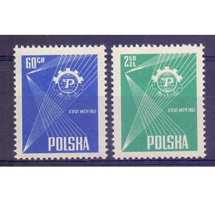 Polska 1957 Mi 1018-1019 Fi 874-875 Czyste **