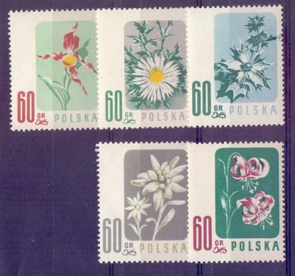 Polska 1957 Mi 1020-1024 Fi 876-880 Czyste **