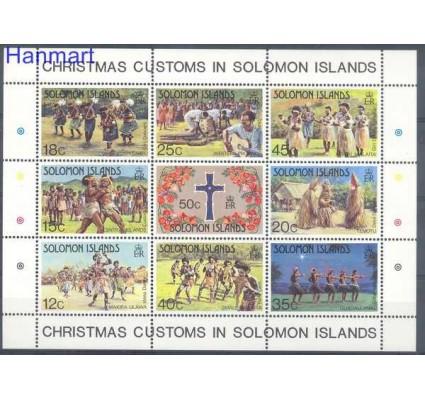 Znaczek Wyspy Salomona 1983 Mi bl 12 Czyste **