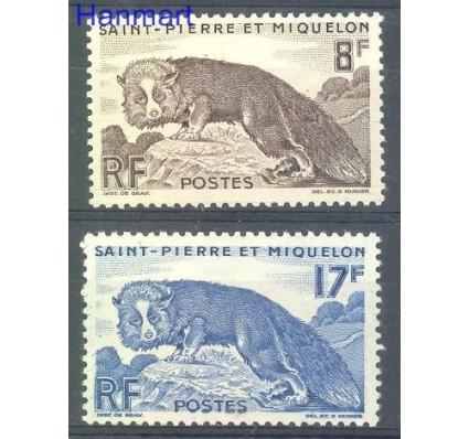 Znaczek Saint-Pierre i Miquelon 1947 Mi 362+365 Z podlepką *