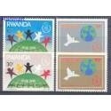 Rwanda 1986 Mi 1354-1357 Czyste **