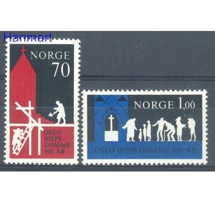 Znaczek Norwegia 1971 Mi 627-628 Czyste **