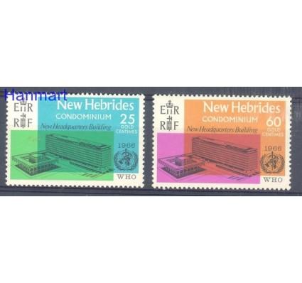 Znaczek Nowe Hebrydy 1966 Mi 244-245 Czyste **