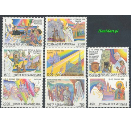 Watykan 1986 Mi 899-906 Czyste **