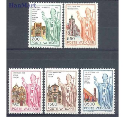 Znaczek Watykan 1991 Mi 1046-1050 Czyste **