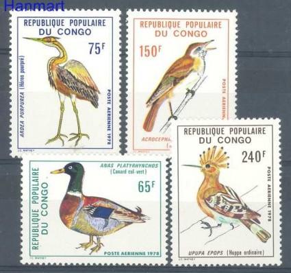 Znaczek Kongo 1978 Mi 626-629 Czyste **