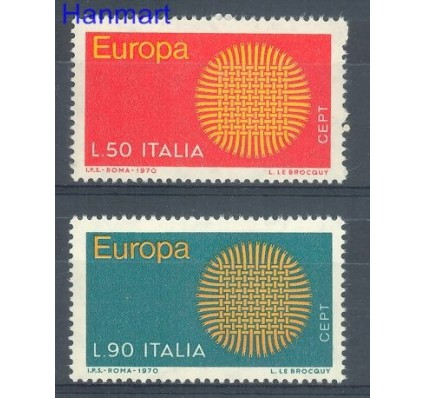 Znaczek Włochy 1970 Mi 1309-1310 Czyste **