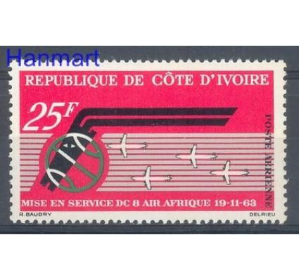 Znaczek Wybrzeże Kości Słoniowej 1963 Mi 256 Czyste **