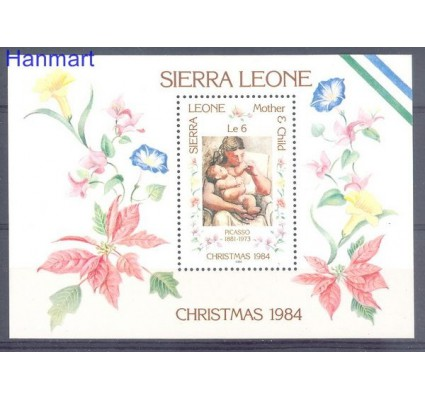 Znaczek Sierra Leone 1984 Mi bl 25 Czyste **