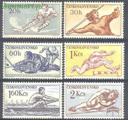 Znaczek Czechosłowacja 1959 Mi 1116-1121 Czyste **
