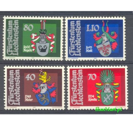 Znaczek Liechtenstein 1981 Mi 766-769 Czyste **