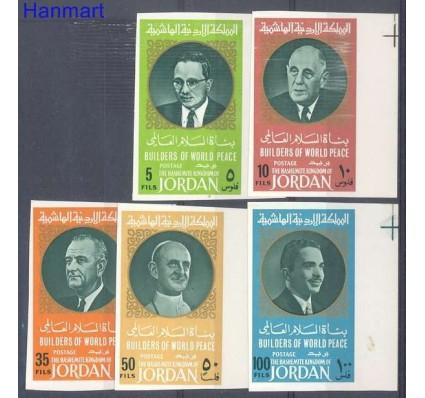 Znaczek Jordania 1967 Mi 638-642B Czyste **