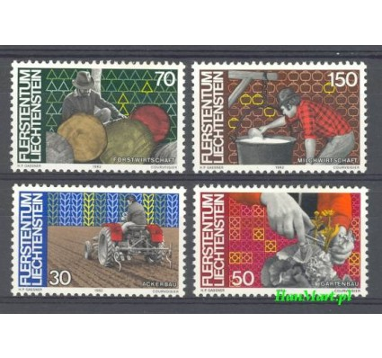 Znaczek Liechtenstein 1982 Mi 802-805 Czyste **