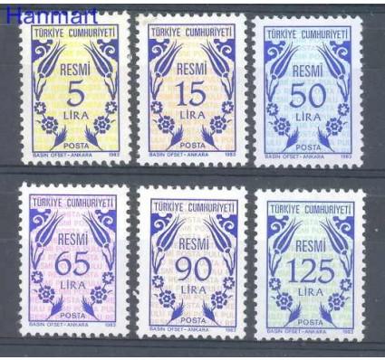 Znaczek Turcja 1983 Mi die 169-174 Czyste **