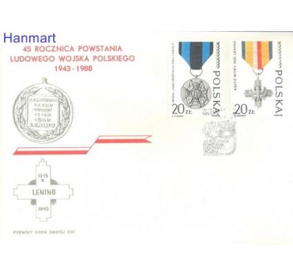 Znaczek Polska 1988 Mi 3165-3166 Fi 3017-3018 FDC