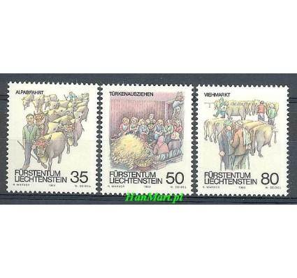 Znaczek Liechtenstein 1989 Mi 971-973 Czyste **