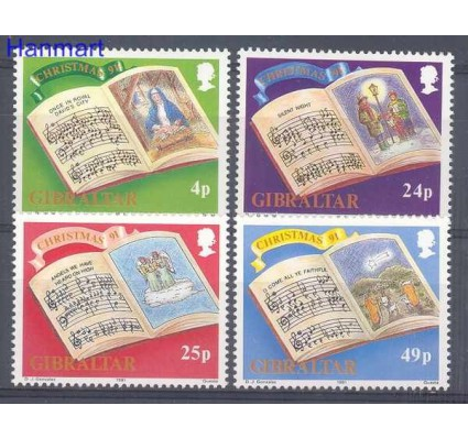Znaczek Gibraltar 1991 Mi 628-631 Czyste **