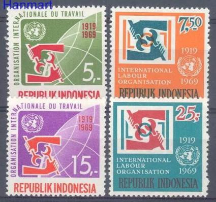 Znaczek Indonezja 1969 Mi 626-629 Czyste **