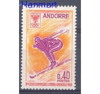 Znaczek Andora Francuska 1968 Mi 207 Czyste **