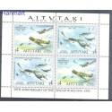 Aitutaki 1995 Mi 740-741 Czyste **