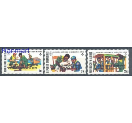 Znaczek Malediwy 1975 Mi 586-588 Czyste **