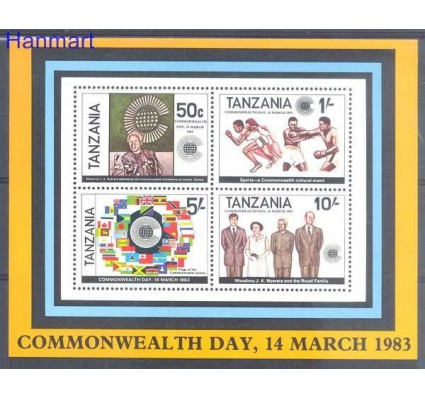 Znaczek Tanzania 1983 Mi bl 32 Czyste **