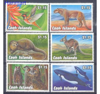 Znaczek Wyspy Cooka 1992 Mi 1348-1353 Czyste **