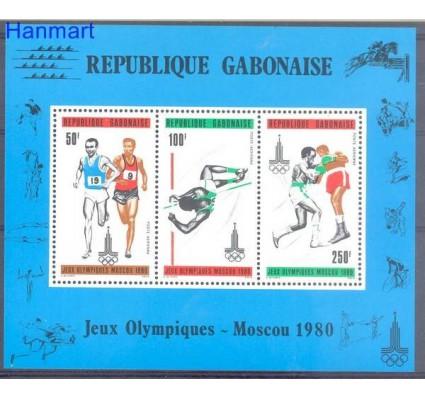 Znaczek Gabon 1980 Mi bl 39 Czyste **