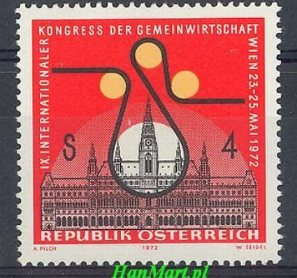 Znaczek Austria 1972 Mi 1388 Czyste **
